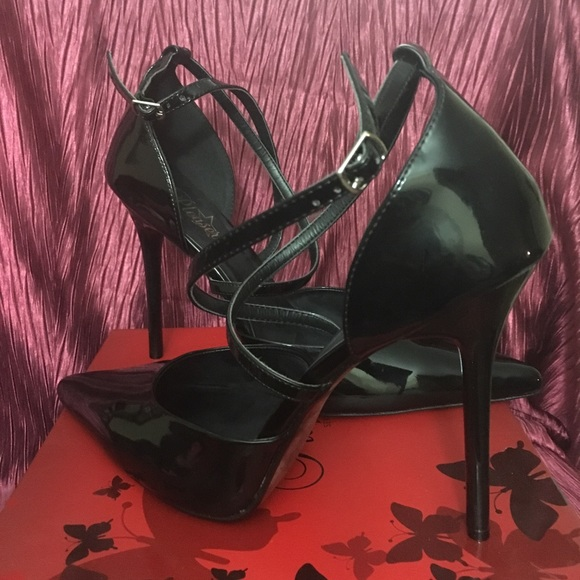ee765231c Pleaser Shoes | Womens Patent Leather Cross Strap | Poshmark